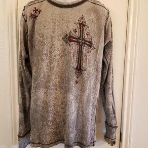 Affliction Crewneck LS shirt Sz XL NWT